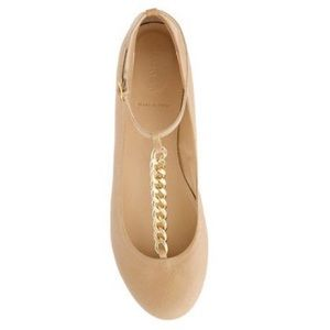 J. Crew Jayne T Strap Leather Ballet Flat